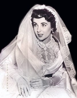 Famous brides throughout recent history their veils for Elizabeth taylor wedding dress
